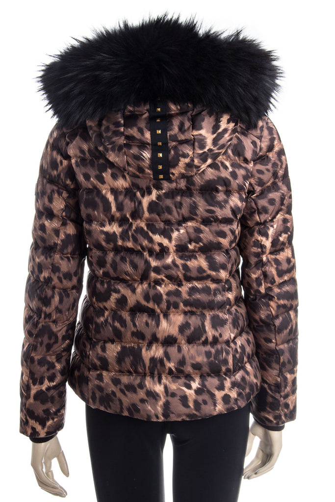 Bogner Women's Cyra-D Ski Jacket in Leopard Animal Print - Saratoga Saddlery & International Boutiques