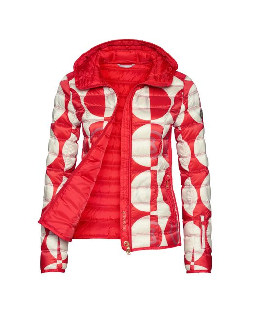 Bogner Sport - Women's Fabia Down Second Layer Jacket in Red - Saratoga Saddlery & International Boutiques