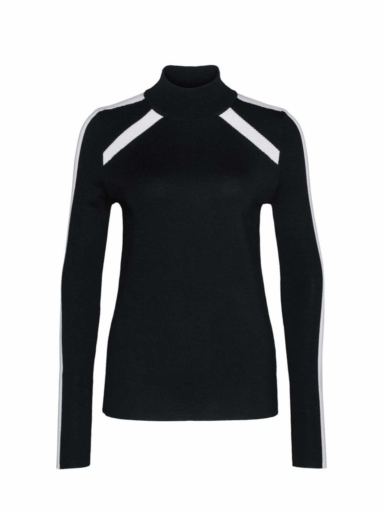 Bogner Fire + Ice Women's Talia Black/Off-White Knit Sweater