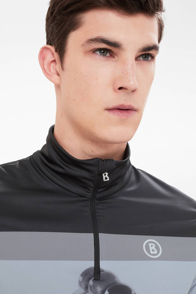 Bogner Sport - Men's 2018 Verti Base Layer in Black/Grey