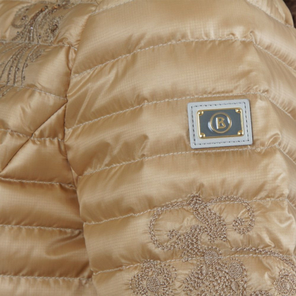Bogner Women's Audrey Down Jacket in Champagne Gold 40% OFF ON SALE NOW! - Saratoga Saddlery & International Boutiques