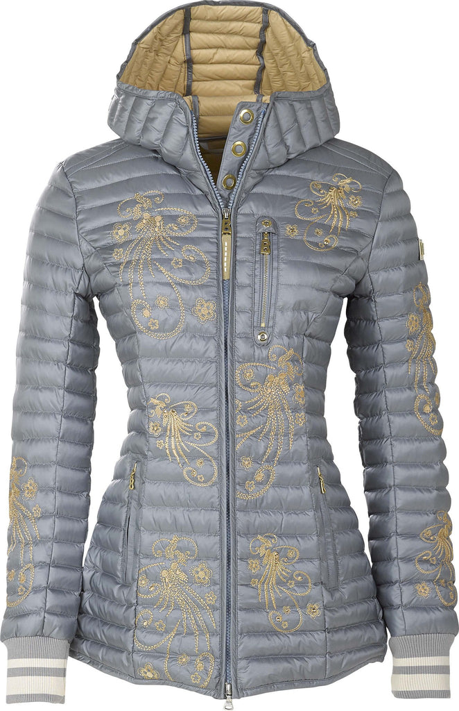 Bogner Women's Audrey Down Coat in Silver ON SALE NOW! - Saratoga Saddlery & International Boutiques