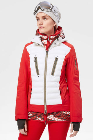 Bogner Sanne Womens Down Winter Jacket in Red
