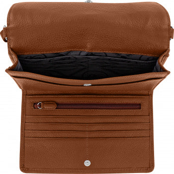 Brighton Red Leather Wallet Ferrara Mystique Slim Organizer From The Ferrara Collection T4406W - Saratoga Saddlery & International Boutiques