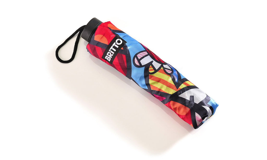 Flying Hearts Umbrella by Artist Romero Britto