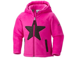 Columbia Kids' Star Bright Fleece Full Zip Hoodie Jacket in Pink