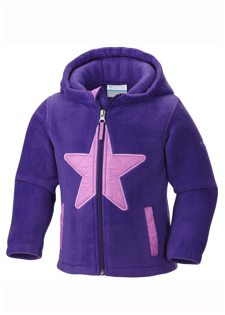Columbia Kids' Star Bright Fleece Full Zip Hoodie Jacket Purple