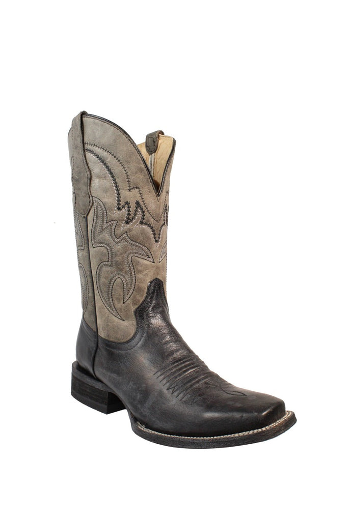 Circle G Men's Black and Grey Embroidered Boot L5179 - Saratoga Saddlery & International Boutiques