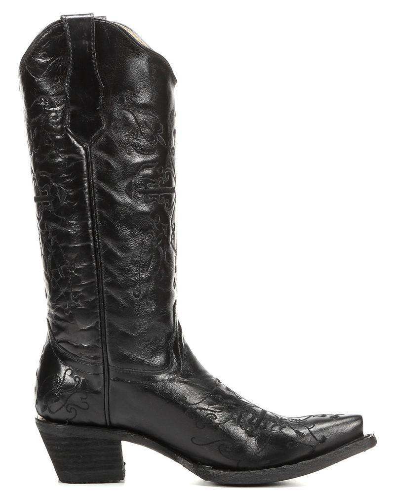 Corral Women's Black Cross Embroidered Boot L5060 - Saratoga Saddlery & International Boutiques