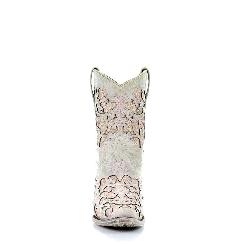 Corral Wedding Collection Women's Mariah White with Pink Boot A3558