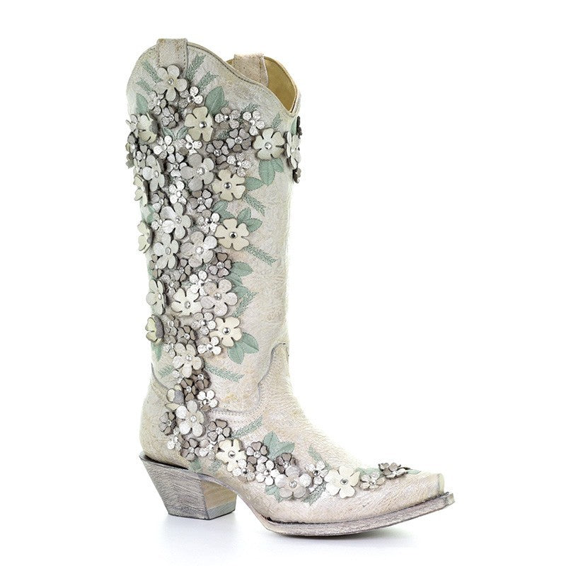 804d49b40ed3 Corral Wedding Collection Women s Mint Flora Boot - A3600 – Saratoga ...