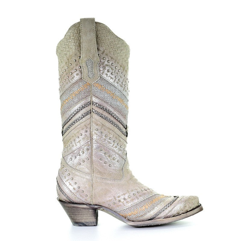 Corral Wedding Collection Women's Madeline Boot - A3604 - Saratoga Saddlery & International Boutiques