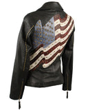 Corral Women's American Flag Lamb Skin Leather Jacket