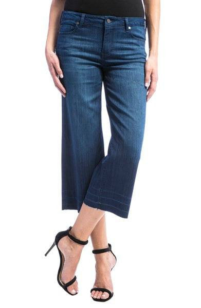 LIVERPOOL JEANS High Waist unhemmed Crop Wide Leg