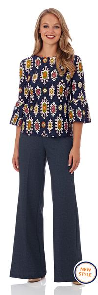 Jude Connally Dixie Top in Medallion Navy
