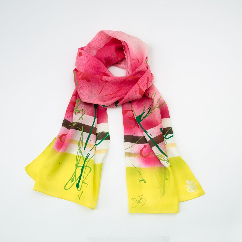 Donna B Equestrian Silk Scarf - Run For The Roses