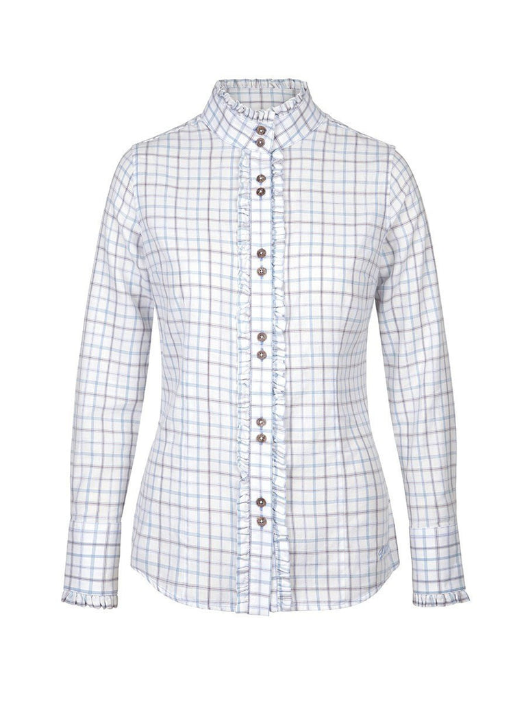 Dubarry Women's Rosemary Longsleeve Fitted Tattersall Shirt