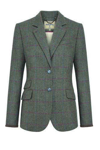 Dubarry Women's Birch Tweed Hacking Style Jacket in Moss