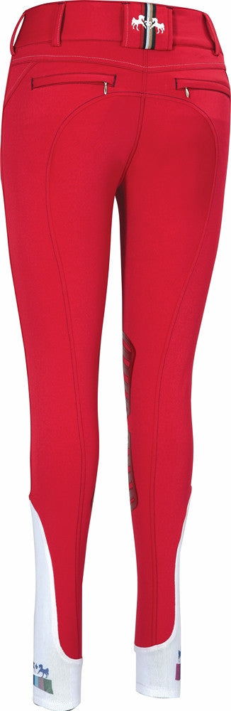 Equine Couture Ladies Beatta Breeches berry red