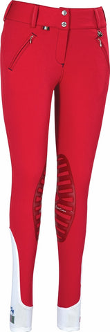 Horze Supreme Grand Prix Women's Self-patch Breeches Red/Navy