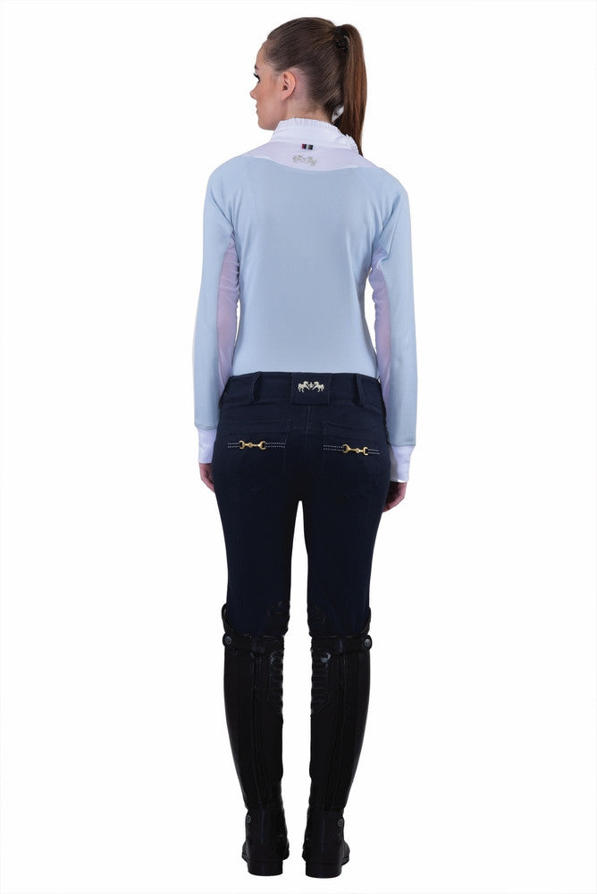 Equine Couture Womens Sophie Knee Patch Breeches Blue