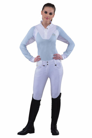 B Vertigo Melissa Women's Full Seat Breeches in Blue
