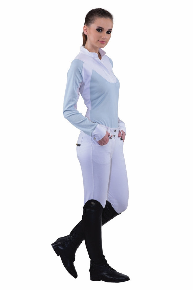 Equine Couture  white Ladies Sophie Knee Patch Breeches