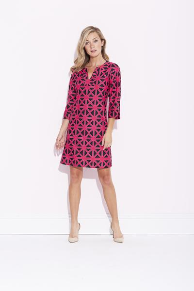 Jude Connally Megan Tunic Dress in Diamond Geo Pink