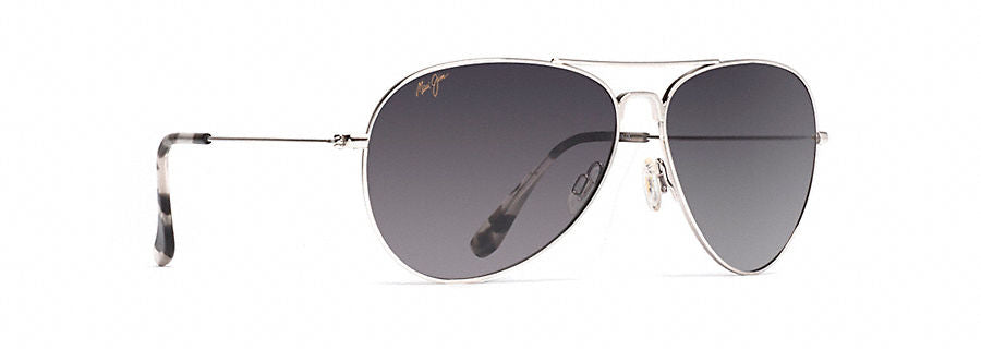 Maui Jim Mavericks Sunglasses in Silver with Neutral Grey Lens