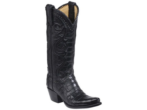 Lucchese Women's Romia Nile Crocodile Boot BL8000 - Calvalry Blue