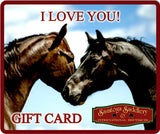 Gift Card I LOVE YOU for EVERY Horse Lover - Saratoga Saddlery & International Boutiques