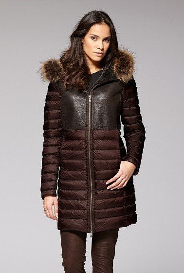 Gimo 3D230 Women's Shearling Down Jacket Warm and lightweight womens winter jacket