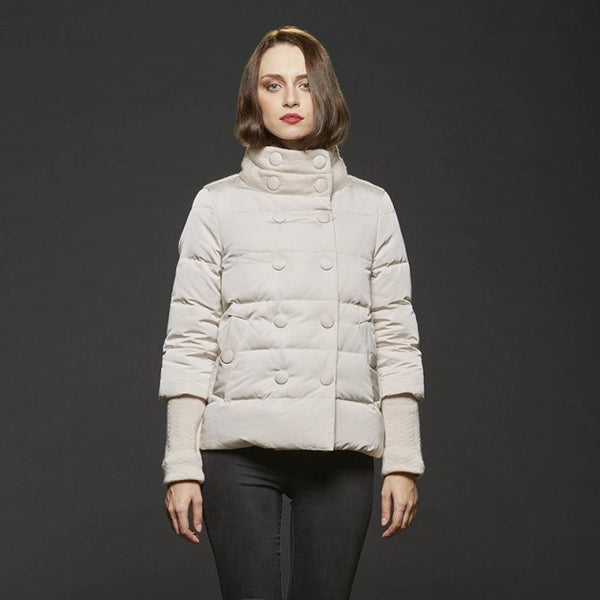 ead5cc29d Gimo Women's Down Winter Jacket in Cream - Closeout Special! (FINAL SALE)