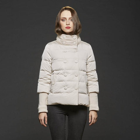 Gimo's 5D320 Women's Lamb's Wool Jacket in Grey