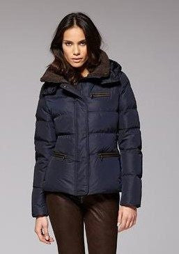 Gimo Women s Short Down Jacket in Navy Gimo Italia - ON SALE ... 854d8c6e4532
