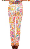Gretchen Scott Grippless Cotton Spandex Jeans in Magic Carpet Bright - Saratoga Saddlery & International Boutiques