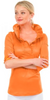 Gretchen Scott Ruffneck Top 3/4 Sleeves in Orange - Saratoga Saddlery & International Boutiques
