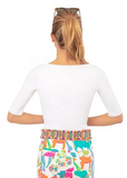 Gretchen Scott Second Skinny Top in White - Saratoga Saddlery & International Boutiques
