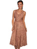 Scully Full Length Lace-Up Front Sleeveless Dress HC118