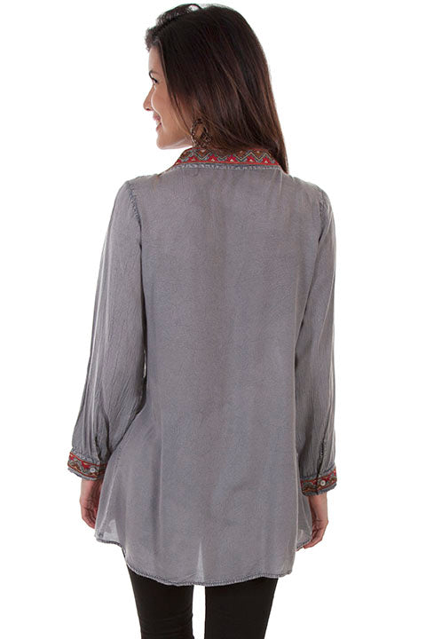 Scully HC502 Embroidered Blouse (Back)