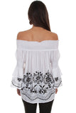 Scully HC533 Embroidered Blouse (Back)