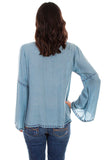 Scully HC569 Embroidered Blouse - Saratoga Saddlery & International Boutiques