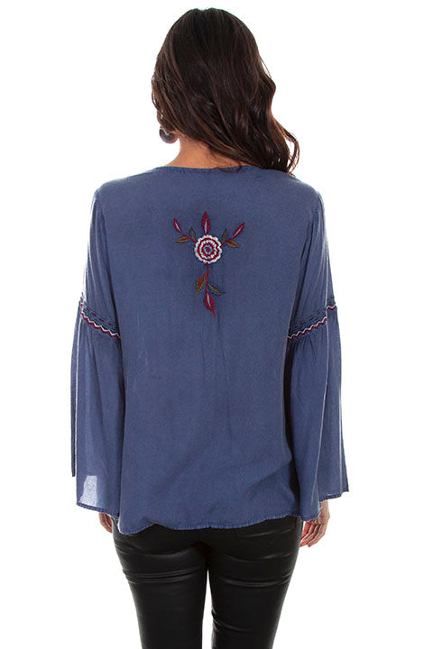 Scully HC571 Embroidered Blouse (back)