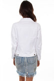 Scully Denim Jacket HC598 in white back