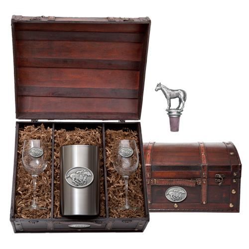Heritage Metalworks Wine Chest Set By A Nose 4283 Set FW19 - Saratoga Saddlery & International Boutiques