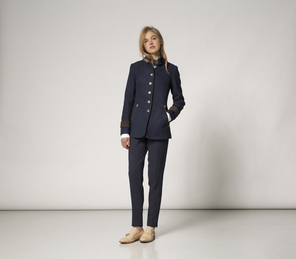 Katherine Hooker Hendre Jacket in Navy Wool