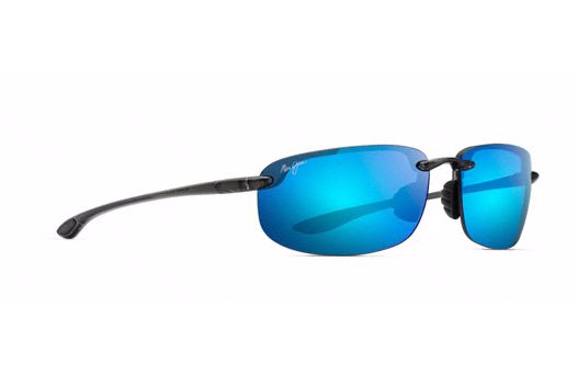 Maui Jim Ho'okipa Sunglasses in Smoke Grey with Blue Hawaii Lens - Saratoga Saddlery & International Boutiques