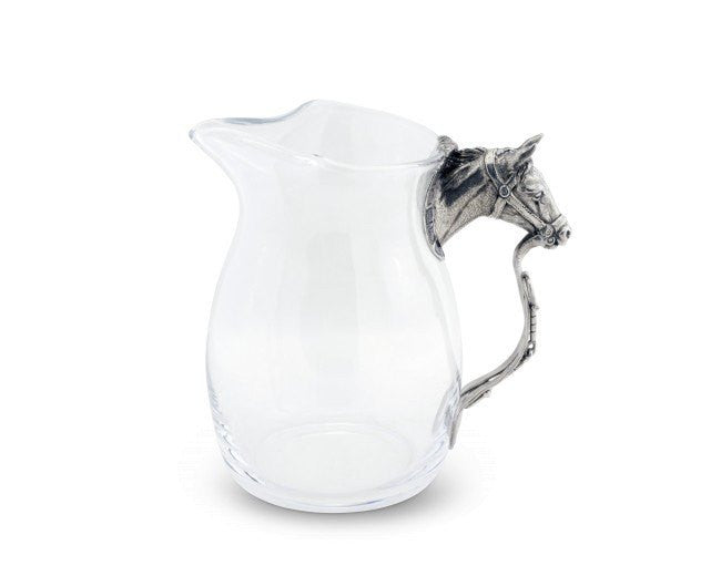 Vagabond House Glass Horse Head Pitcher H457HH