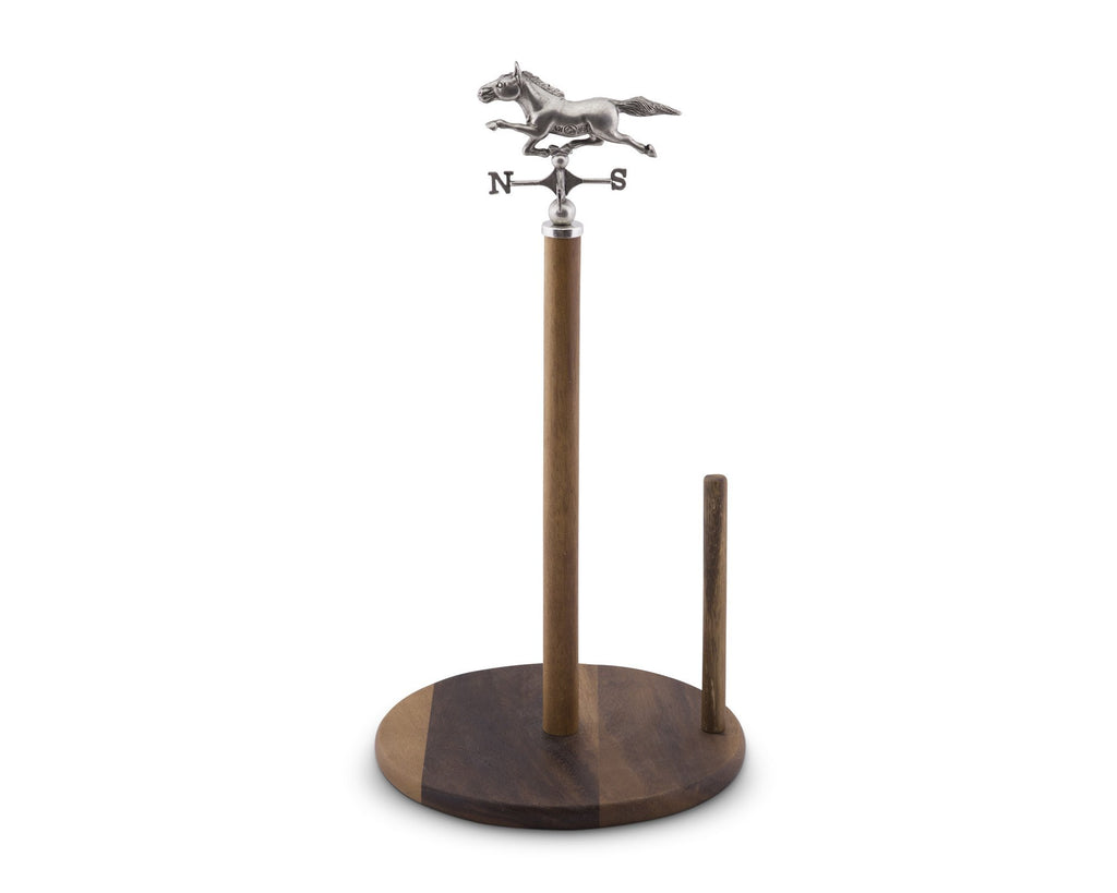 Vagabond House Horse Weather Vane Wooden Paper Towel Holder H293WH