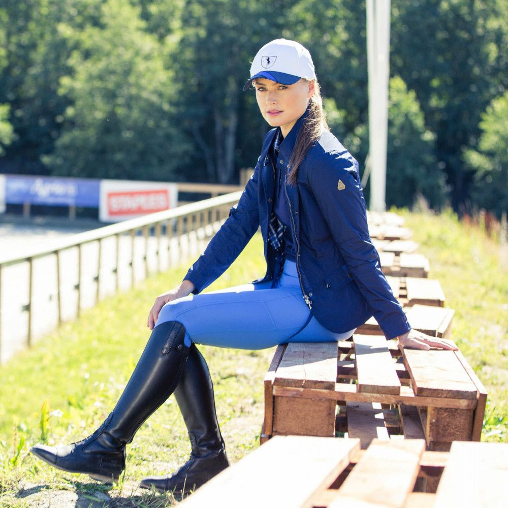 Horze Aubrey Womens Jacket in Navy 33260 - Saratoga Saddlery & International Boutiques